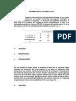 Informe Nueve de Hidrología