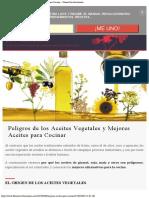 Peligros de los Aceites Vegetales y Mejores Aceites para Cocinar ⋆ Fitness Revo
