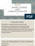 Chapter 7 Standard Costing and Variance Analysis