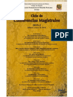 Ciclo de Conferencias Magistrales 2019-2