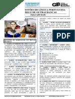 Questões de Língua Portuguesa Da Iades e Do Cespe - Professor Gilber Botelho (Igb) - Gabaritadas 4 - 2019 (1)