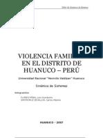 Violencia Familiar - Huanuco