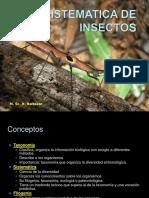Sistematica de Insectos