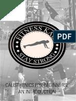 Calisthenics E-BOOK - Fitness Kaur