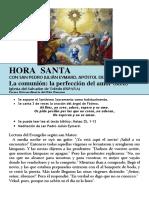 HORA SANTA Con San Pedro Julián Eymard. La Comunión, La Perfección de Amor (68.b)