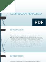 PRESENTACION ACUMULADOR HIDRAULICO