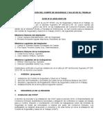 Acta de Constitucion e Instalacion de CSST