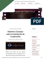 Kdenlive_ Consejos Sobre La Instalación de La Aplicación – Multimedia en Gnu_Linux