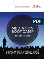 Mediation Boot Camp Brochure