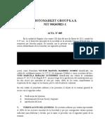 Acta Aumento de Capital s.a.s y Nombramiento