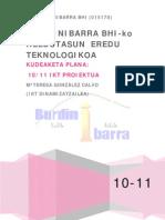 1 IKT-PROIEKTUA Kudeaketa Plana 10-11