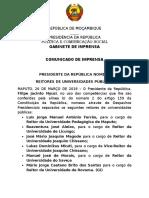PR Nomeia Reitores de Universidades Publicas - 26.03
