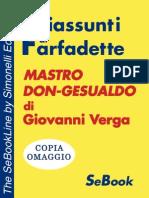 Mastro Don-Gesualdo di Giovanni Verga - RIASSUNTO  © Copyright Simonelli Editore srl - Milano - Italy