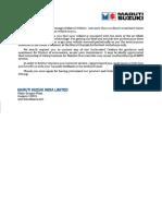 Maruti Suzuki Alto 800 Lxi Service Manual