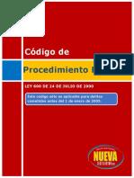Ley 600 de 2000 Codigo Procedimiento Penal (Delitos Anteriores Al 01-01-2005)