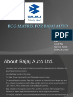 BCG MATRIX FOR BAJAJ AUTO
