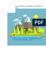 How to Create a Mountain Landscape in Flat Style in Adobe Illustrator.docx