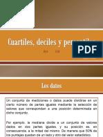 Cuartiles, Deciles y Percentiles
