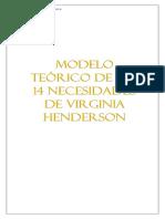 modelo teórico de 14 necesidades