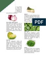 Vegetales y sus vitaminas
