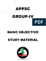 APPSCGROUP-4 BASIC OBJECTIVE STUDY MATERIAL