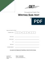Oet Writing