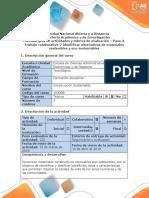 Guía de actividades y rúbrica de evaluación - Paso 3 - Trabajo colaborativo 2 - Identificar alternativas  de materiales sostenibles  y eco-sustentables.docx