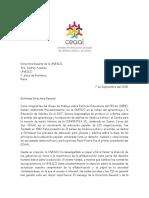 Carta a la UNESCO