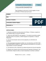 EVALUACIÓN DIAGNÓSTICA- 1°
