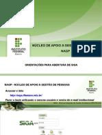 ORIENTAÇÕES PARA ABERTURA DE SIGA.ppsx
