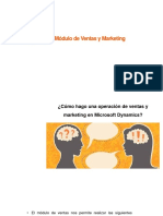 Dinamics Modulos de Ventas y Marketing