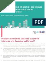 Controle Interne Et Gestion Des Risques Au Sein Du Secteur Public Local