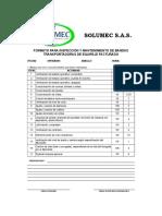 Todos Los Formato Mtto Control Con Frecuencia y Duracion de Actividades