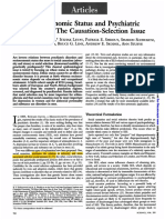 00_dohrenwend Socioeconomic Status and Psychiatric Disorders the Causation-selection Issue