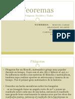 Teoremas (pitagoras, thales y euclides).pptx