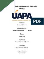 Ética Profesional del Docente - Trabajo Final.docx