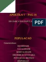 Biologia PPT - Dinâmica das Populações I