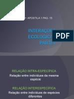 Biologia PPT - Interações Ecológicas I