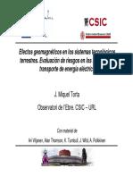 Efectos Geomagnéticos en Los Sistemas Tecnológicos Terrestres