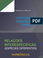 Biologia PPT - Interações Ecológicas II