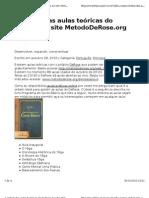 A Ordem Das Aulas Te Ricas Do DeRose No Site MetodoDeRose