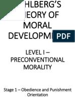 Kohleerg's Theory of Moral Development