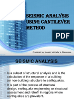 REP 38 - Seismic Analysis using Cantilever Method-DIACAMOS,KARREN MICHELLE.ppt