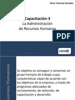 Administración de RH Capacitación-3 La Administración de Recursos Humanos