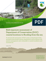 Risk-exposure assessment of Department of Conservation (DOC) coastal locations to flooding from the sea