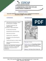 SEMINARIO Administración efectiva de alamacenes y bodega