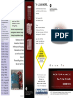 Performance Packing Codes