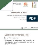 Seminario de Tesis I 25 Marzo