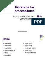 Historia  de los procesadores