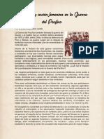 Presencia y Acción Femenina en La Guerra Del Pacífico Ensayo PDF